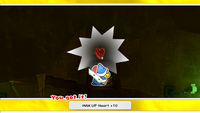 MAX UP Heart +10 while on a path to the Spring of Rainbows in Paper Mario: The Origami King
