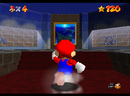 Mario facing the picture of Jolly Roger Bay