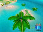 A Blue Coin in Gelato Beach in the game Super Mario Sunshine.