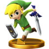 Toon Link trophy from Super Smash Bros. for Wii U