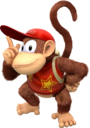 Diddy Kong artwork from Donkey Kong Country: Tropical Freeze.