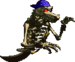 Sprite of a blue-bandanna Kackle in Donkey Kong Country 2: Diddy's Kong Quest.
