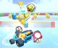The icon of the Dry Bowser Cup challenge from the Super Mario Kart Tour in Mario Kart Tour.
