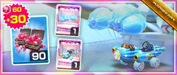 The Cact-Ice Pack from the Snow Tour in Mario Kart Tour