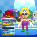 Wario Mii Costume in the game Mario & Sonic at the London 2012 Olympic Games for the Wii.