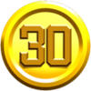 A 30-Coin in the New Super Mario Bros. U style in Super Mario Maker 2.