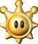 Artwork of a Shine Sprite from Super Mario Sunshine