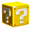 Artwork of a? Box from Super Mario 3D World