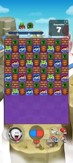 Stage 857 from Dr. Mario World
