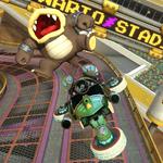 Morton Koopa Jr. performing a trick. Mario Kart 8.