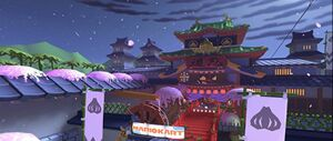 View of Ninja Hideaway in Mario Kart Tour