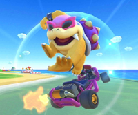 The icon of the Lakitu Cup challenge from the Exploration Tour and the Pauline Cup challenge from the Sydney Tour in Mario Kart Tour.