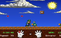 Gameplay for the CD-ROM release of Mario Teaches Typing
