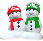 Mario and Luigi Snowmen Artwork.png