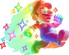 Invincible Mario's artwork from New Super Mario Bros. 2, New Super Mario Bros. U and Super Mario 3D World.