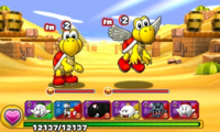Screenshot of World 3-5, from Puzzle & Dragons: Super Mario Bros. Edition.