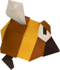 An origami Stingby from Paper Mario: The Origami King.
