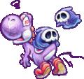 Purple Yoshi and Grim Leechers Artwork - Yoshi's New Island.png