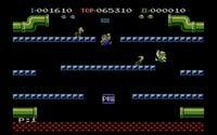 Gameplay screenshot of Luigi Bros., a port of Mario Bros.