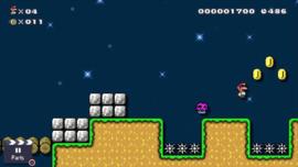 The Super Mario Maker 2 Story Mode level Begone, Rotten Mushroom!