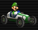 Luigi's Classic Dragster from Mario Kart Wii