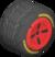 The Std_BlackRed tires from Mario Kart Tour