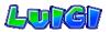 Luigi's name from Mario Kart Arcade GP 2