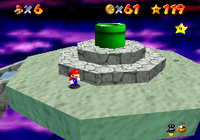 Mario near the final battle in Bowser in the Sky