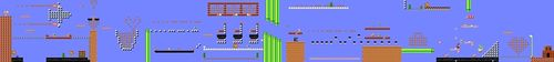 Layout of Southwest Air Adventure in Super Mario Maker.