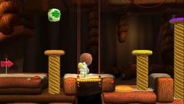 A-Mazing Post Pounding level in Yoshi's Woolly World