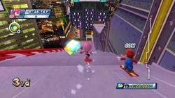 Amy and Mario participating in the Dream Snowboard Cross