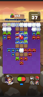 Stage 211 from Dr. Mario World