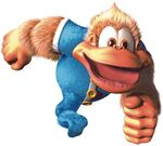 Artwork of Kiddy Kong running from Donkey Kong Country 3: Dixie Kong's Double Trouble!