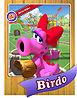 Level 1 Birdo card from the Mario Super Sluggers card game