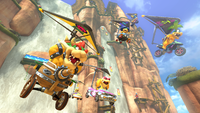 Bowser and the Koopalings from Mario Kart 8.