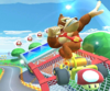 The icon of the Donkey Kong Cup challenge from the Mario Bros. Tour and the Rosalina Cup challenge from the Ninja Tour in Mario Kart Tour