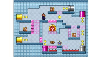 Miiverse screenshot of the 39th official level in the online community of Mario vs. Donkey Kong: Tipping Stars