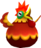 Rendered model of the Cluckboom enemy in Super Mario Galaxy.