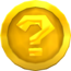 Rendered model of a ? Coin in Super Mario Galaxy.