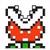 Piranha Plant icon in Super Mario Maker 2 (Super Mario Bros. 3 style)