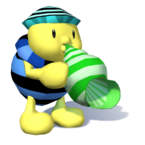 A Noki playing the conch in Super Mario Sunshine