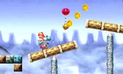 Screenshot of Yoshi's New Island.