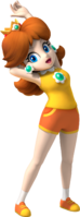 Artwork of Princess Daisy from Mario & Sonic at the Olympic Games.