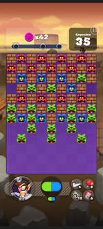 Stage 212 from Dr. Mario World