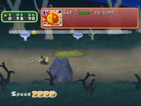 Luigi in Dark Path course of Star Sprint in the game Mario Party 6.