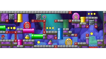 Miiverse screenshot of the 92nd official level in the online community of Mario vs. Donkey Kong: Tipping Stars