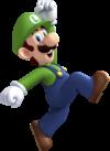 Artwork of Luigi jumping from New Super Mario Bros. U