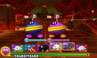 Screenshot of World 7-8, from Puzzle & Dragons: Super Mario Bros. Edition.