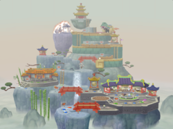 The solo version of the Pagoda Peak board from Mario Party 7