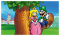 Peach and Luigi on the Tanooki Tree.png